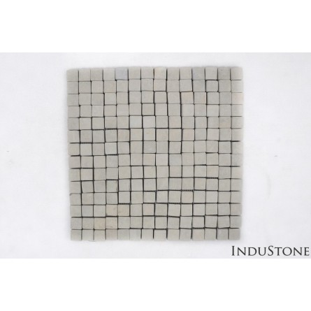 SOFT GREEN SQUARE green CUBIC 2x2 mosaic on a plastic grid INDUSTONE
