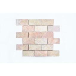 BATAKO PINK ORANGE mozaika kamienna na siatce INDUSTONE