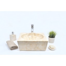 SBW-P CREAM B 40 cm wash basin overtop INDUSTONE