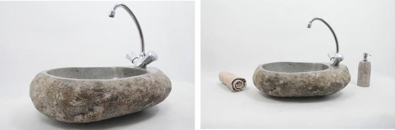 umywalka z kamienia rzecznego