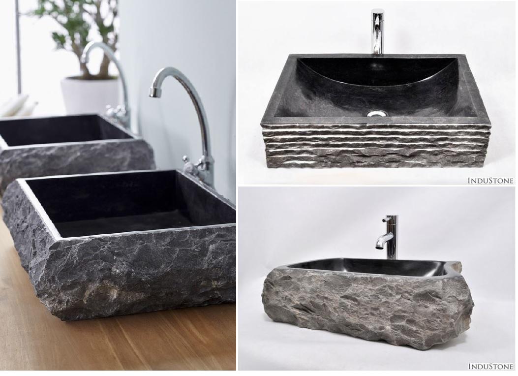 czarna umywalka z kamienia black