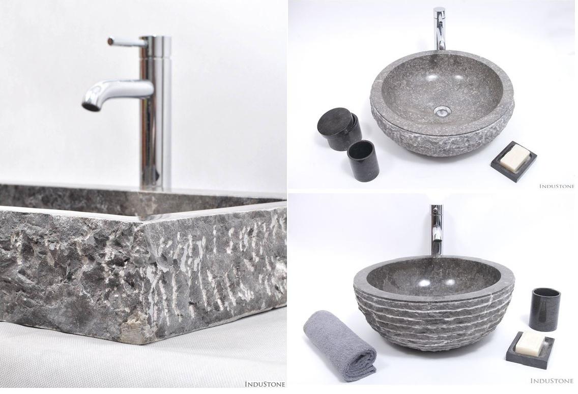 szara nablatowa umywalka kamienna