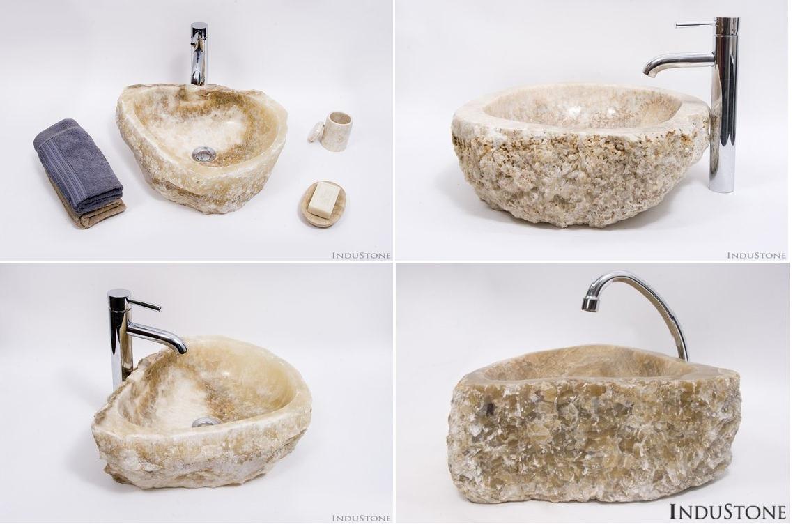 nablatowe umywalki z kamienia onyx