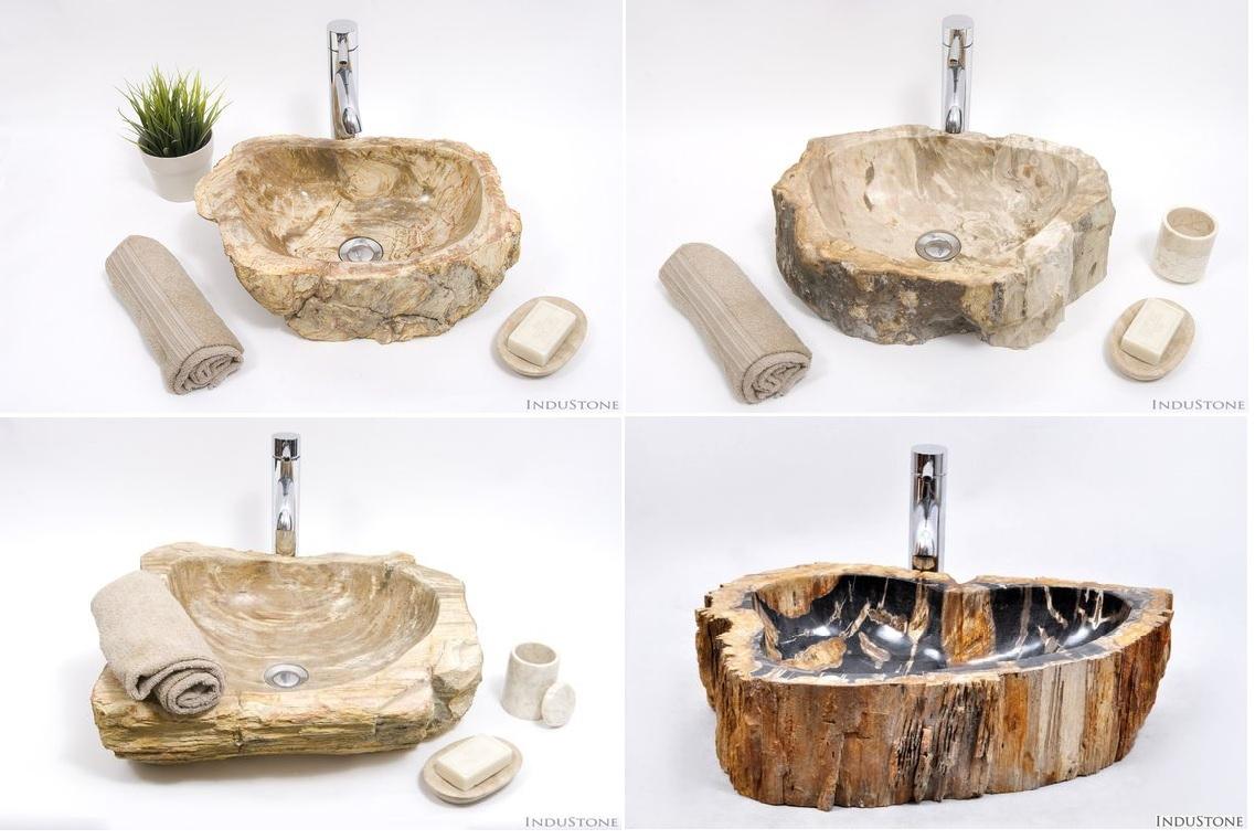 umywalki ze skamieniałego drewna fossil wood