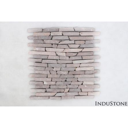 PASKI CALI: * COCO BROWN stone stripes mosaic on a plastic grid INDUSTONE