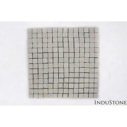 SOFT GREEN SQUARE miętowa KOSTKA 2x2 mozaika kamienna na siatce INDUSTONE