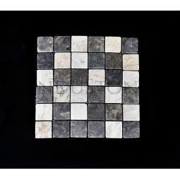 KOSTKA: * MIX 2: WHITE/GREY 5x5 mosaic on a plastic grid INDUSTONE