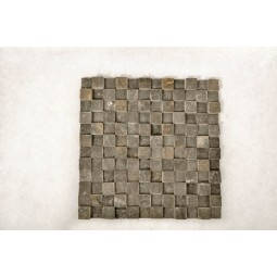 KOSTKA: * 3D BLACK 2x2 CUBIC mosaic on a plastic grid INDUSTONE