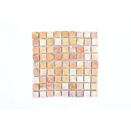 KOSTKA: * RED 3x3 SQM mosaic on a plastic grid INDUSTONE