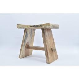 EGZOTYCZNY TABORET I D z naturalnego drewna INDUSTONE