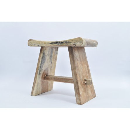 EXOTIC STOOL I D made from natural wood INDUSTONE