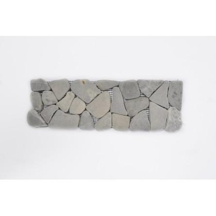 TAN GREY SQUARE dekor szary ŁAMANY mozaika kamienna na siatce INDUSTONE