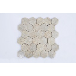 HEXAGONAL CREAM mosaic INDUSTONE