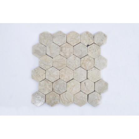 HEXAGONALNA CREAM kremowa mozaika kamienna INDUSTONE