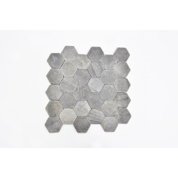 HEXAGONAL BLACK mosaic INDUSTONE