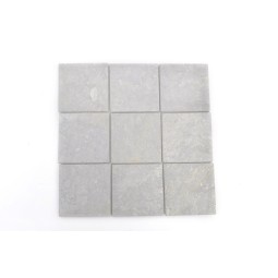 Grey Light SQUARE CUBIC 10x10 mosaic on a plastic grid INDUSTONE