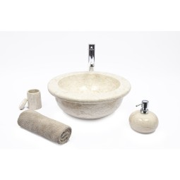 KCBO-P CREAM H 40x15 cm wash basin overtop INDUSTONE