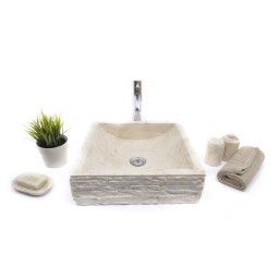 SSB-M CREAM G 40x40 cm wash basin overtop INDUSTONE