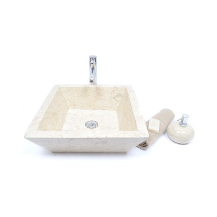 KKL-P CREAM A 45 cm wash basin overtop INDUSTONE