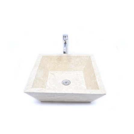 KKL-P CREAM D 45 cm wash basin overtop INDUSTONE