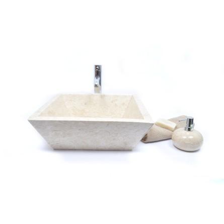 KKL-P CREAM F 45 cm Stein Waschbecken Aufsatzwaschbecken INDUSTONE