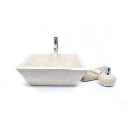 KKL-P CREAM F 45 cm wash basin overtop INDUSTONE