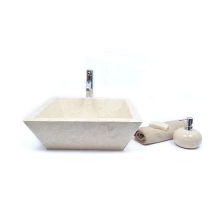 KKL-P CREAM G 45 cm kamienna umywalka nablatowa INDUSTONE