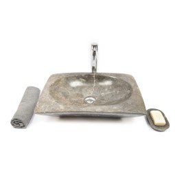 RCTK-P GREY A 50x35x12 cm wash basin overtop INDUSTONE