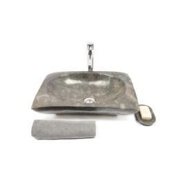RCTK-P GREY D 50x35x12 cm wash basin overtop INDUSTONE
