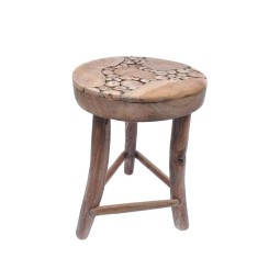 EXOTIC STOOL IV A made from natural wood INDUSTONE