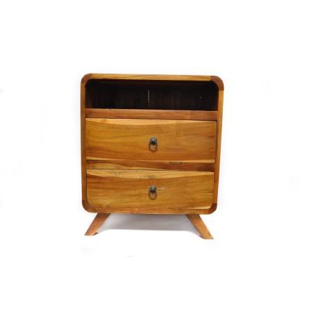 NAKAS TV Fernsehschrank mit Schubladen A von exotischen Holz