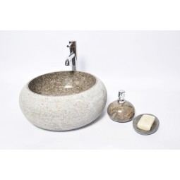 DN-G GREY A 40 cm wash basin overtop INDUSTONE