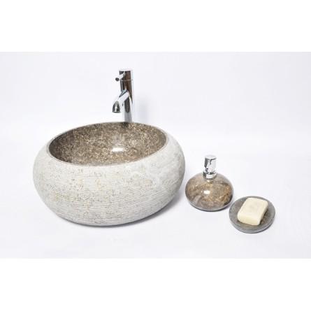 DN-G GREY A 40 cm wash basin overtop INDUSTONE