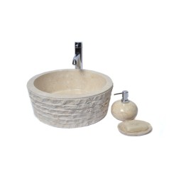 LY-M CREAM B 40 cm wash basin overtop INDUSTONE
