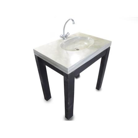 AMBON green wash basin overtop INDUSTONE