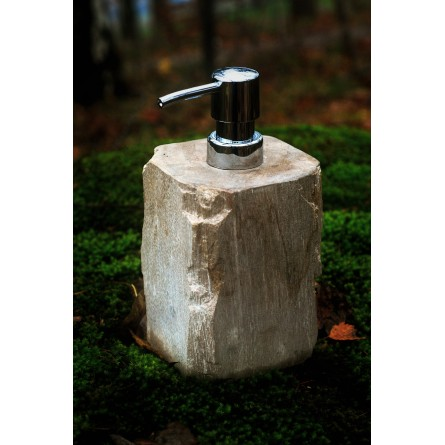 FOSSIL WOOD Soap Dispenser from Indonesia INDUSTONE