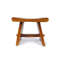 EXOTIC STOOL III B made from natural wood INDUSTONE