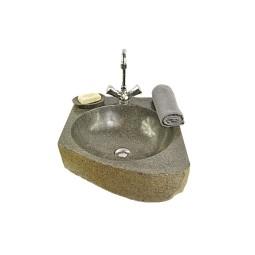 RIVER STONE TRANGAN MEDIUM C wash basin overtop INDUSTONE