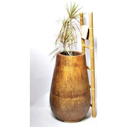 PALM WOOD PLANTER 100x65-45 cm INDUSTONE