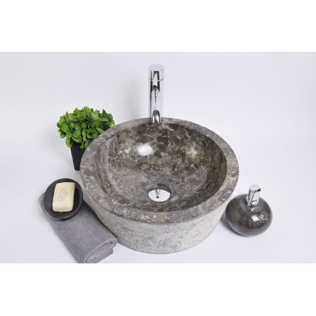 LYC-G GREY C 40 cm wash basin overtop INDUSTONE