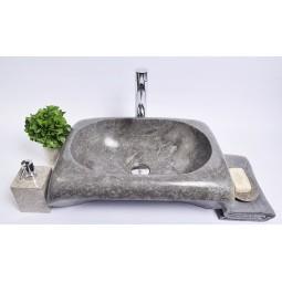 RCTK-P GREY J 50x35x12 cm wash basin overtop INDUSTONE