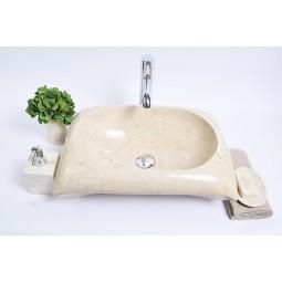RCTK-P Cream D 50x35x12 cm wash basin overtop INDUSTONE