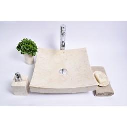 SZB-P Cream A 40x40x12 wash basin overtop INDUSTONE