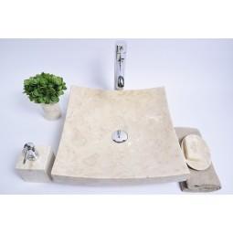 SZB-P Cream D 40x40x12 wash basin overtop INDUSTONE
