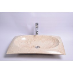RCTK-P Cream F 60x40x12 cm wash basin overtop INDUSTONE