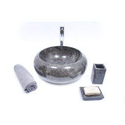 DN-P BLACK E 40 cm wash basin overtop INDUSTONE