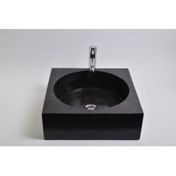 SSL-P BLACK A cm kamienna umywalka nablatowa INDUSTONE