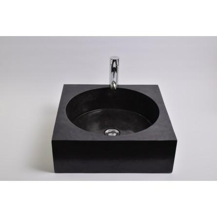 SSL-P BLACK A cm wash basin overtop INDUSTONE