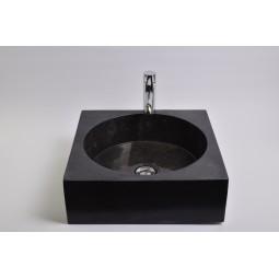 SSL-P BLACK D Stein Waschbecken Aufsatzwaschbecken INDUSTONE