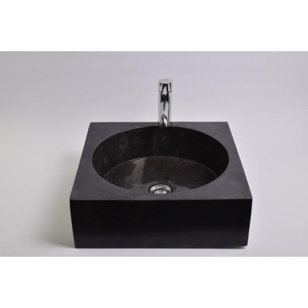 SSL-P BLACK D wash basin overtop INDUSTONE